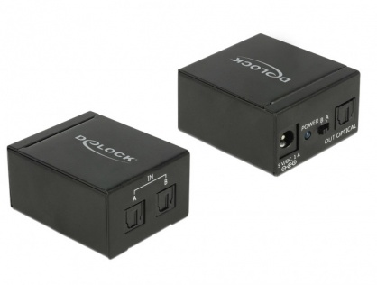 Switch audio digital Toslink S/PDIF 2 porturi, Delock 18767