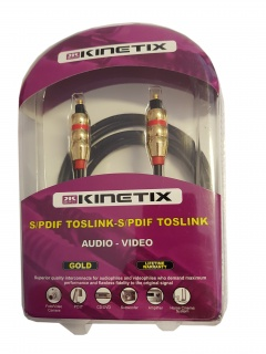 Cablu GOLD audio digital Toslink 2m, KTCBLHE13043