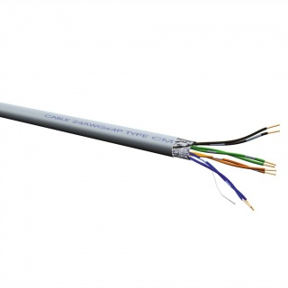 Cablu retea FTP Cat. 5e, solid, AWG24, 300m, Roline 21.15.0010
