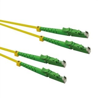 Cablu fibra optica duplex LSH - LSH, APC ground, LSOH, Galben 1m, Roline 21.15.9501