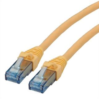 Cablu de retea UTP Patch Cord Cat.6A Component Level LSOH Galben 0.3m, Roline 21.15.2983