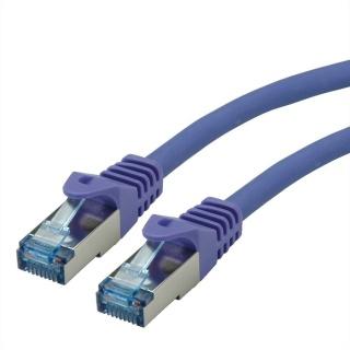 Cablu de retea S/FTP Cat.6A, Component Level, LSOH mov 20m, Roline 21.15.2939