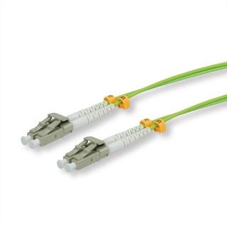 Cablu fibra optica duplex LC - LC OM5 verde 10m, Roline 21.15.9275