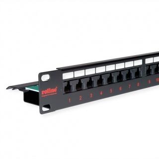 Patch Panel UTP Cat.6, 24 porturi, negru, Roline 26.11.0362