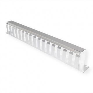 """Front Panel 19"""" 1U cu organizator pentru cabluri 40x60mm RAL7035 Gri deschis, Value 26.99.0302"""