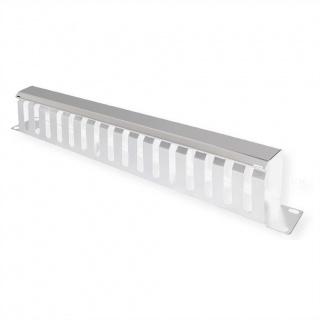 """Front Panel 19"""" 1U cu organizator pentru cabluri 40x80mm RAL7035 Gri deschis, Value 26.99.0303"""