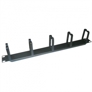 """Organizator cablu 19"""" 1U 5 inele vertical/orizontal RAL7035 Negru, Value 26.99.0312"""