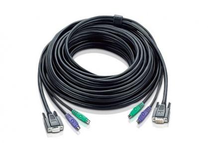 Cablu VGA pentru KVM PS/2 20m, ATEN 2L-1010P/C