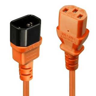 Cablu prelungitor alimentare IEC C13 - C14 2m Orange, Lindy L30475