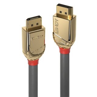Cablu Displayport 8K60Hz/4K120Hz UHD (DP certificat) v1.4 T-T Gold Line 1m, Lindy L36291