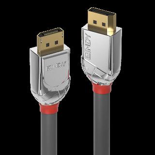 Cablu DisplayPort 4K@60Hz T-T v1.2 Cromo Line 3m, Lindy L36303