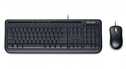 Kit tastatura + mouse Microsoft Wired Desktop 600 for business Negru