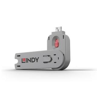 Cheie pentru blocarea portului USB-A (L40460 & L40450) Roz, Lindy L40620