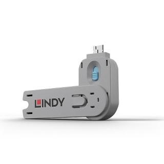 Cheie pentru blocarea portului USB-A (L40462 & L40452) Bleu, Lindy L40622