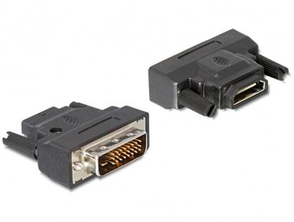 Adaptor DVI-D Dual Link 24+1pini la HDMI T-M cu LED, Delock 65024
