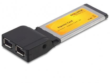 Placa Express Card la 2 x FireWire 600 chipset TI, Delock 61387