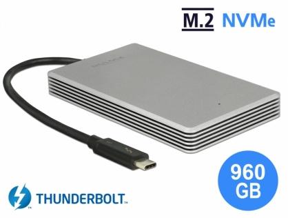SSD Thunderbolt 3 extern portabil M.2 PCIe NVMe 960 GB, Delock 54061