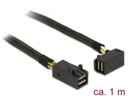 Cablu Mini SAS HD SFF-8643 la Mini SAS HD SFF-8643 unghi 90 grade 1m, Delock 83643