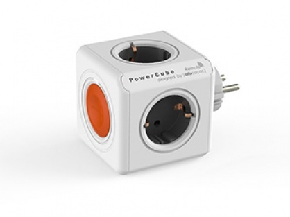 Prelungitor in forma de cub PowerCube Remote 4 prize cu Switch, Allocacoc