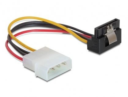Cablu de alimentare SATA la Molex unghi cu fixare, Delock 60121