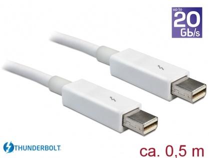 Cablu Thunderbolt 2 T-T 0.5m alb, Delock 83165
