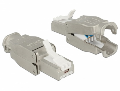Conector RJ45 Cat.6A pentru fir solid UTP toolfree, Delock 86427