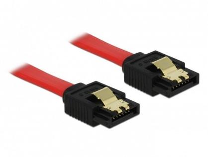 Cablu SATA II 3 Gb/s cu fixare 50cm, Delock 84302