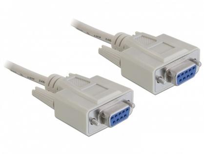 Cablu Serial Nullmodem DB9 M-M 1.8m, Delock 84077