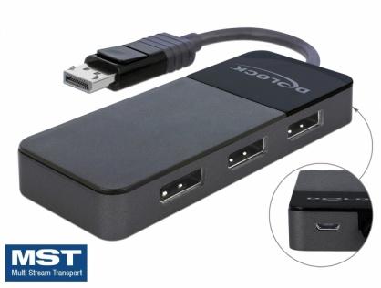 Multiplicator DisplayPort 1.4 cu 3 porturi, Delock 87737