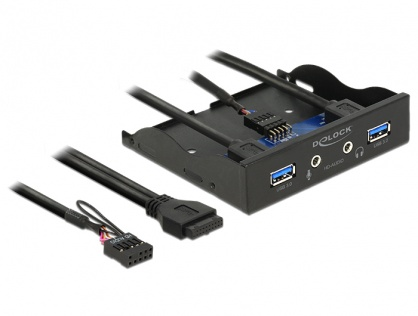 "Front Panel 3.5"" la 2 x USB 3.0 + HD-Audio, Delock 62700"