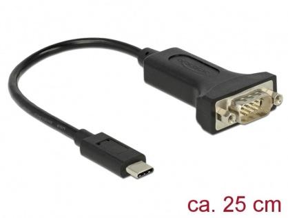 Adaptor USB-C la Serial DB9 RS-232 FTDI, Delock 63908
