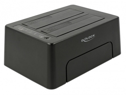 "Docking Station USB 3.1-C la 2 x SATA HDD/SSD 2.5"" + 3.5"" cu functie de Clona, Delock 63957"