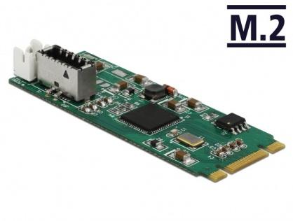 Convertor M.2 Key B+M la un port USB 3.1 Gen2 key A 20 pini, Delock 63998