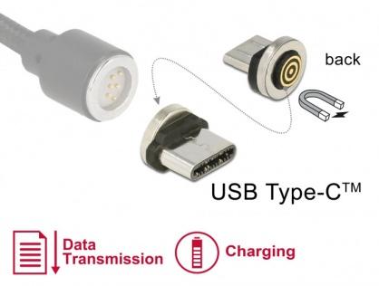Adaptor magnetic incarcare + transfer date USB-C pentru 85723/85724, Delock 65933