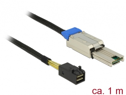 Cablu Mini SAS HD SFF-8088 la Mini SAS HD SFF-8643 1m, Delock 83620