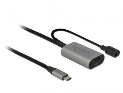 Cablu prelungitor USB 3.1-C Gen 1 activ 5m T-M Negru, Delock 85392