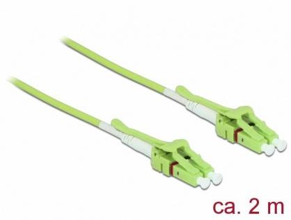 Cablu fibra optica LC la LC Multi-mode OM5 LSOH Uniboot 2m, Delock 85689