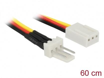 Cablu de alimentare ventilator 3 pini T-M 60cm, Delock 85752