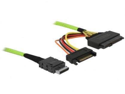 Cablu OCuLink PCIe SFF-8611 la U.2 SFF-8639 1m, Delock 85756