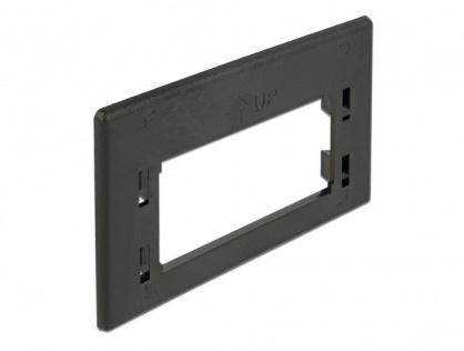 Placa de adaptare keystone pentru priza de instalare in mobilier Negru, Delock 86294