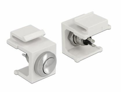 Keystone alb cu buton Push, Delock 86401