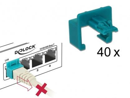 Set 60 buc Clips pentru securizarea mufei RJ45, Delock 86446