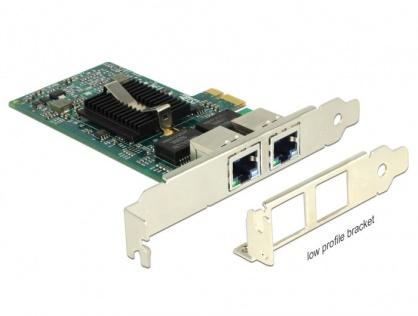 PCI Express la 2 x Gigabit LAN chipset Intel 82576, Delock 89944