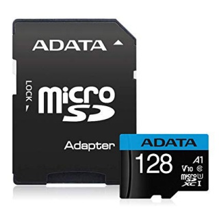 Card de memorie MicroSD SDXC 128GB clasa 10 + adaptor SD, ADATA AUSDX128GUICL10A1-RA1