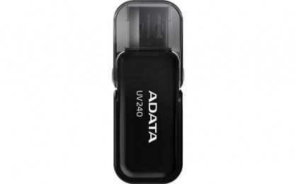 Stick USB 2.0 cu capac pliabil 32GB UV240 Negru, ADATA