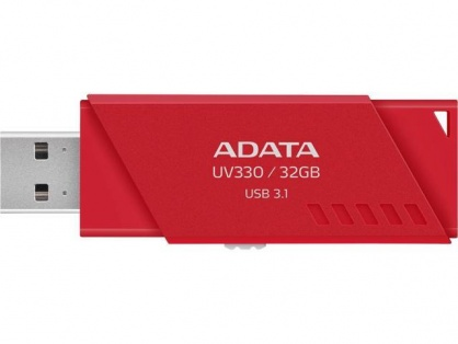 Stick USB 3.0 retractabil UV330 32GB Rosu, ADATA AUV330-32G-RRD