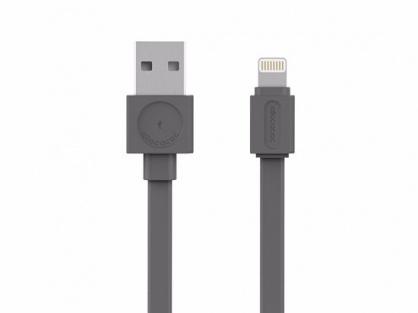 Cablu de date + alimentare USB la Lightning 1.5m Gri, Allocacoc