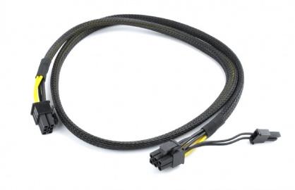 Cablu de alimentare PCI Express 6 pini la 6+2 pini 0.8m T-T, Gembird CC-PSU-86