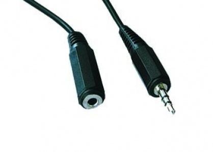 Cablu prelungitor audio jack stereo 3.5mm T-M 3m, Gembird CCA-423-3M