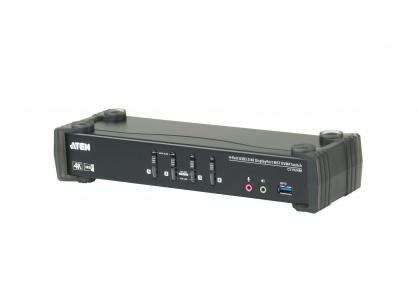 KVM Switch DisplayPort MST 4 porturi USB 3.0 4K, ATEN CS1924M